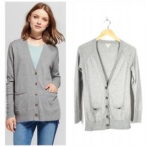 Mossimo Gray Sweater Cardigan Size Large
